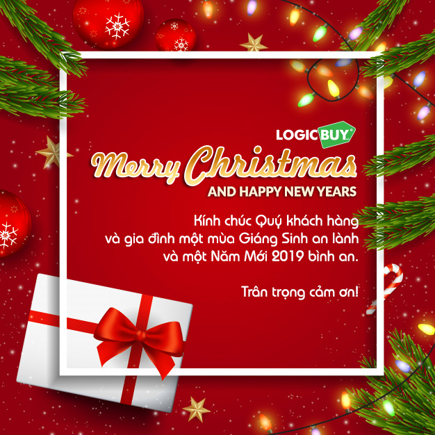 LogicBUY Merry Christmas And Happy New Year 2019