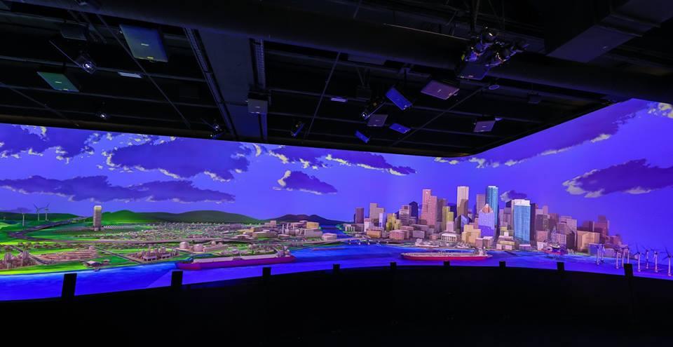Lắp đặt 32 máy chiếu laser Vivitek DU8090Z tại Bảo tàng Khoa học Tự nhiên Houston