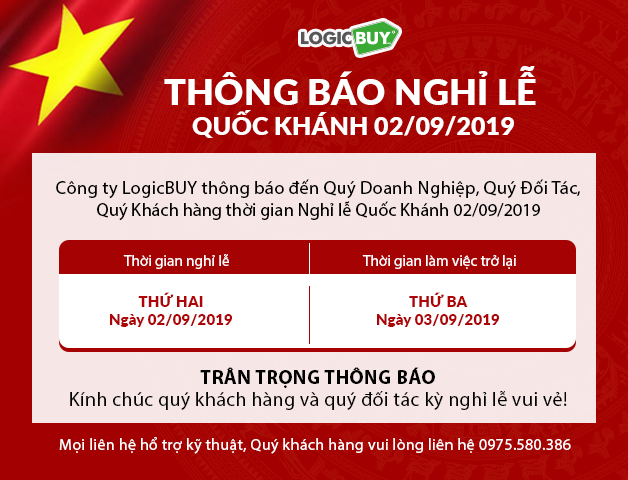 Thông báo lịch nghỉ lễ Quốc Khánh 02/09/2019