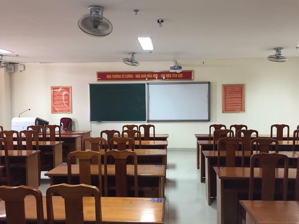 Bàn giao tập huấn sử dụng thiết bị phòng học thông minh cho: Đại Học An Ninh