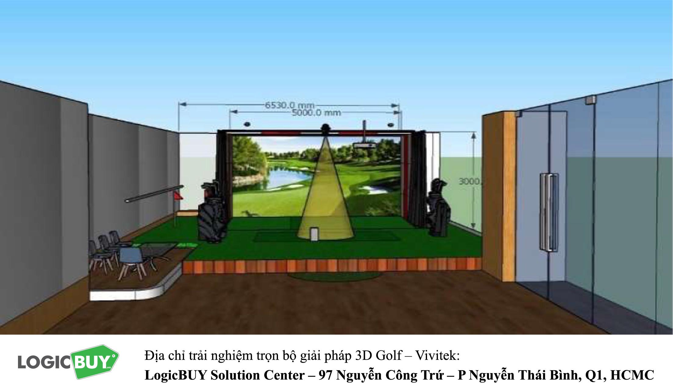 Phòng Golf 3D Vivitek 10