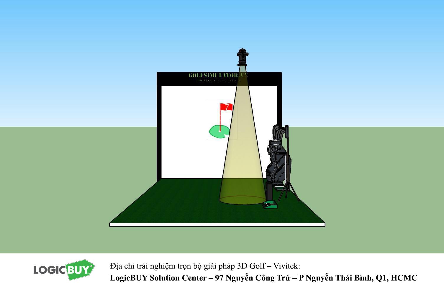 Phòng Golf 3D Vivitek 2