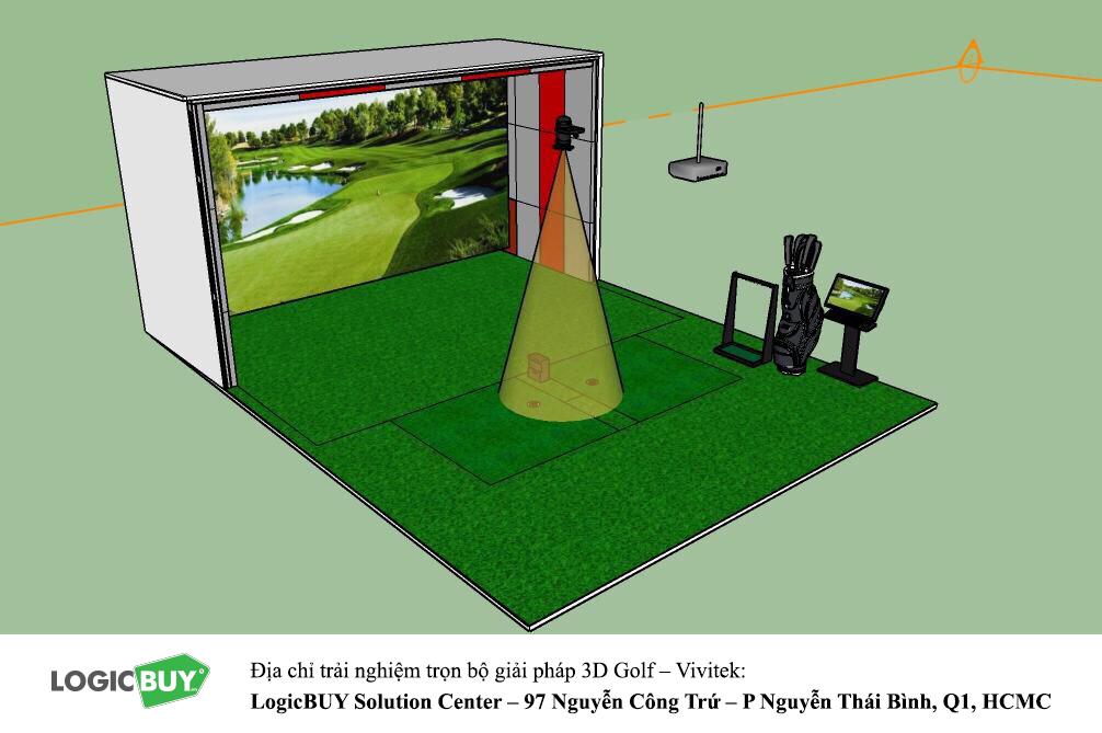 Phòng Golf 3D Vivitek 3