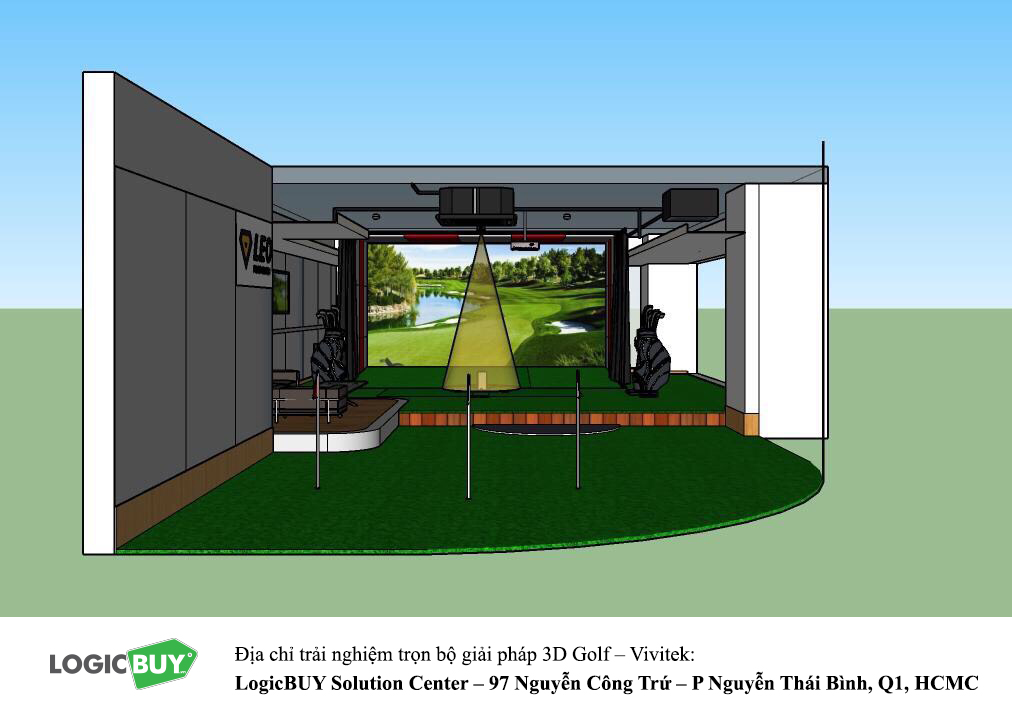 Phòng Golf 3D Vivitek 9