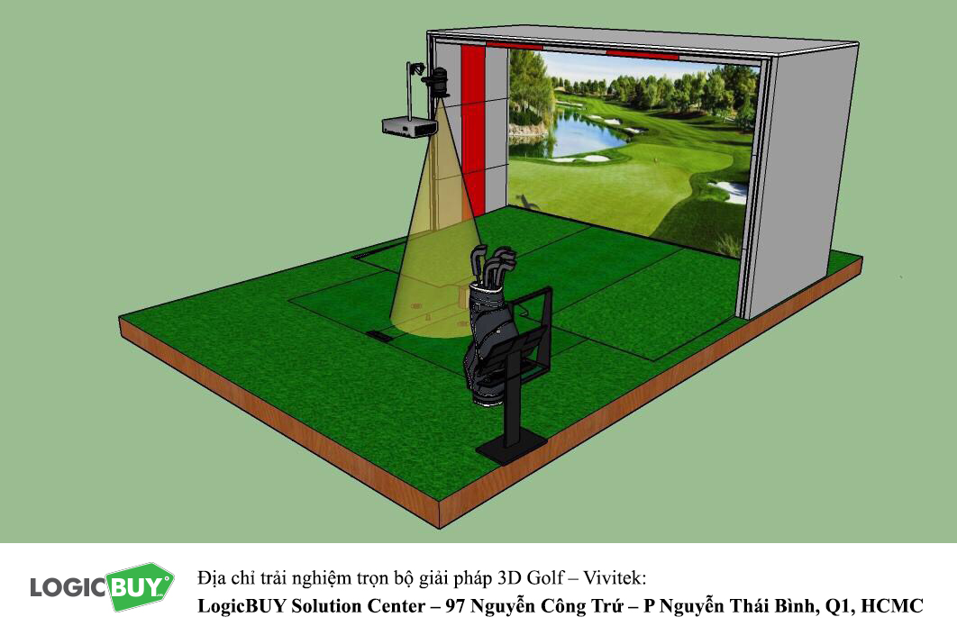 Phòng Golf 3D Vivitek 4