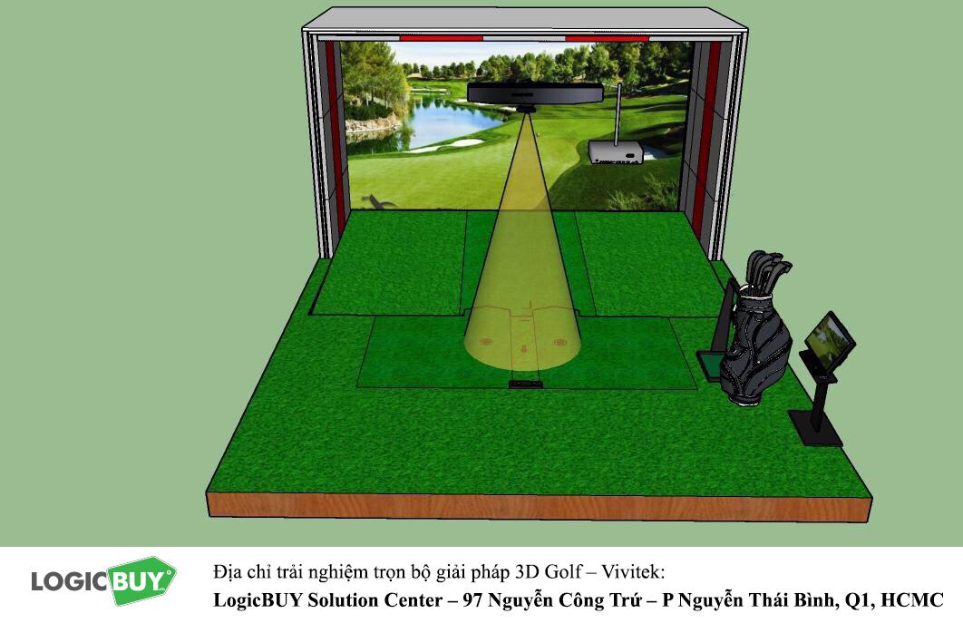 Phòng Golf 3D Vivitek 6