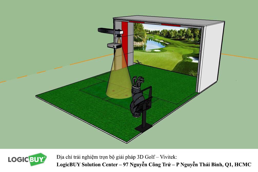 Phòng Golf 3D Vivitek 5