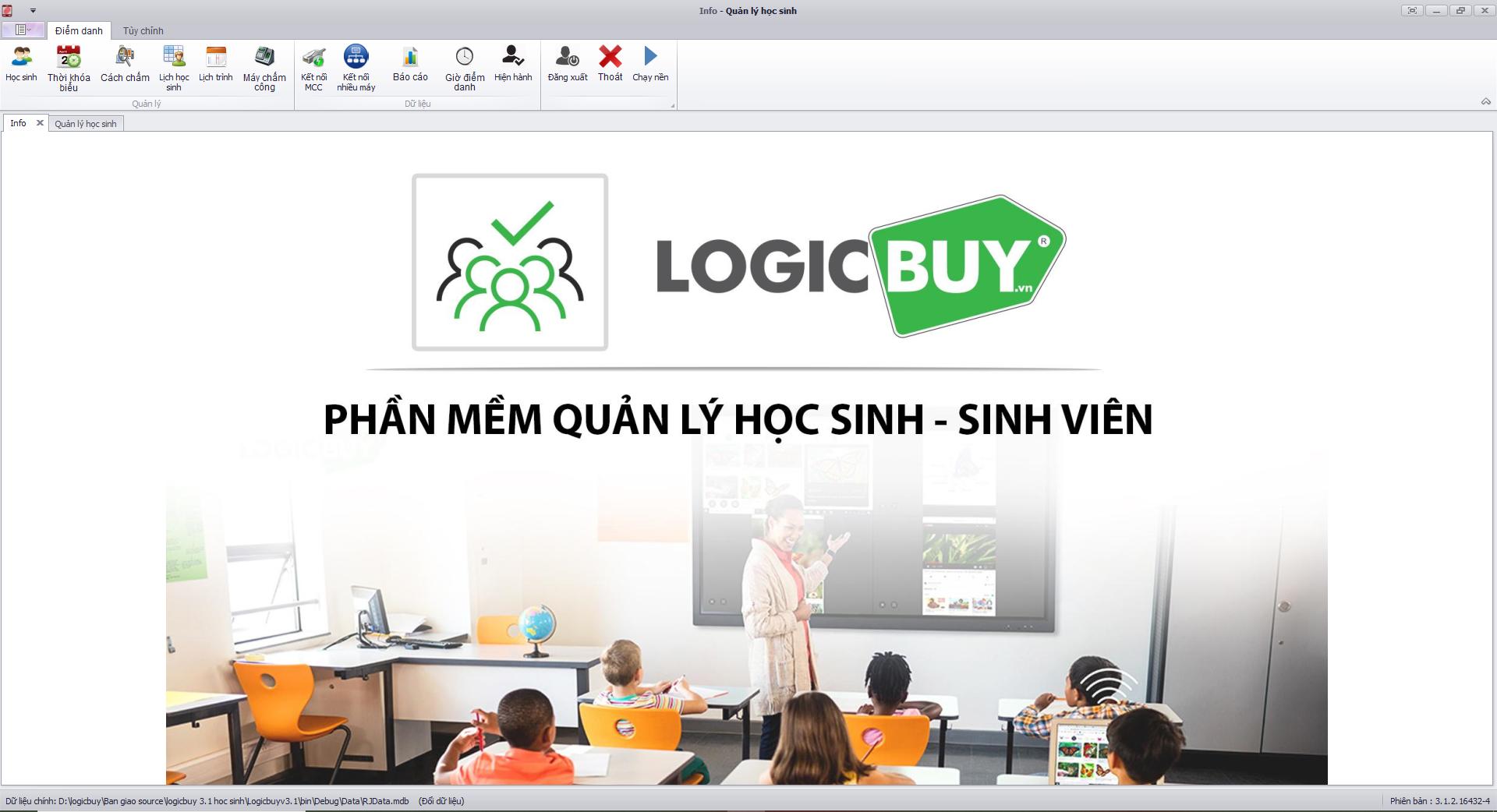 Phần mềm quản lý học sinh, sinh viên bằng máy chấm vân tay
