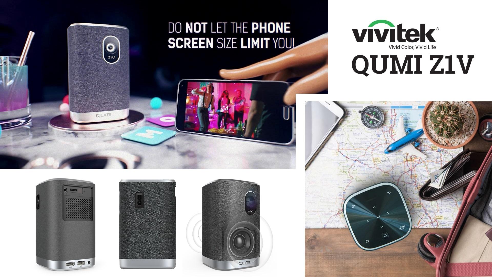 Vivitek Qumi Z1V – Mẫu máy chiếu mini được ưa chuộng nhất năm