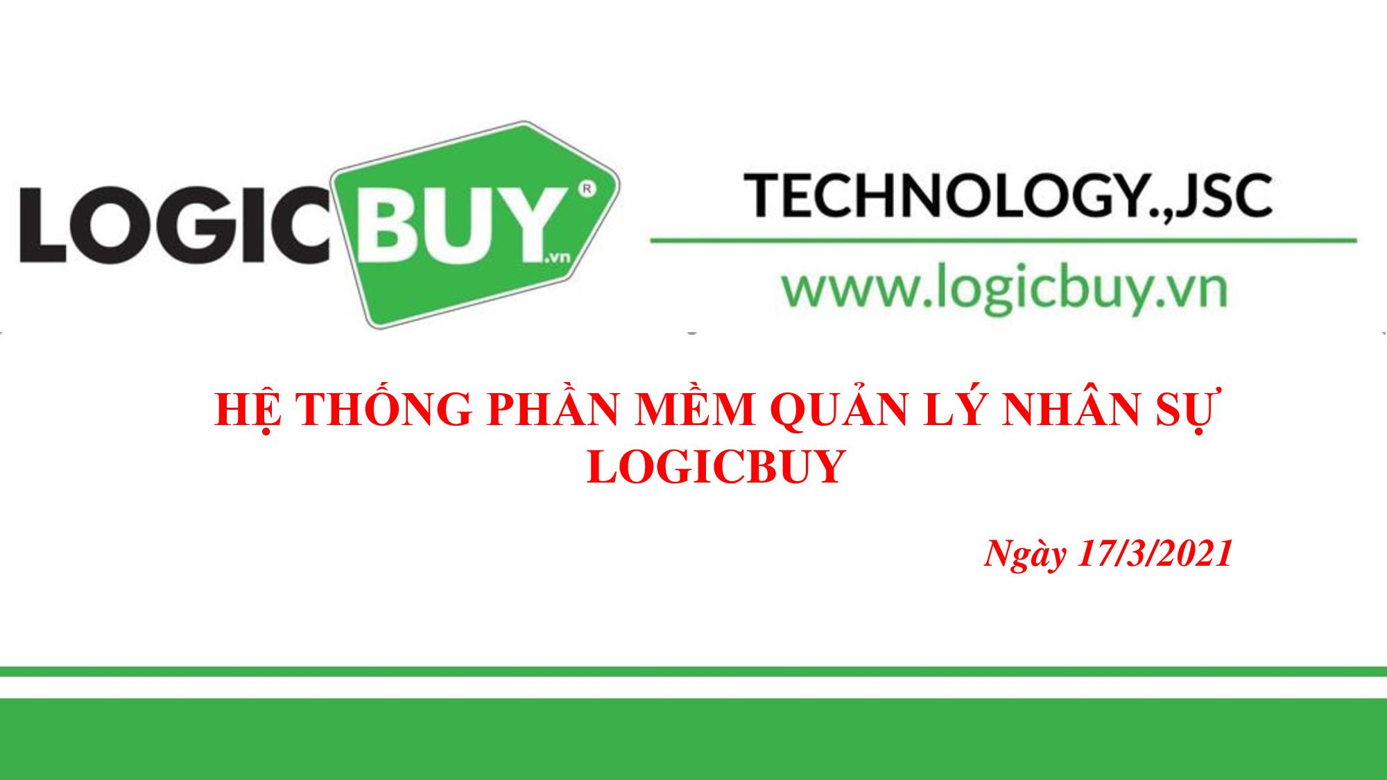 Phần mềm Quản lý Nhân sự LogicBUY