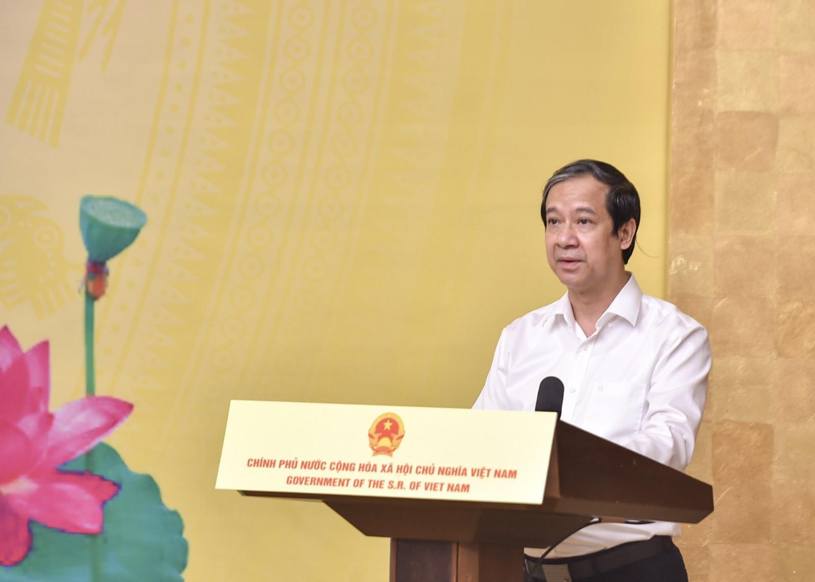 Bộ trưởng Nguyễn Kim Sơn: Thầy và trò ngành Giáo dục sẽ nỗ lực dạy thật tốt, học thật tốt